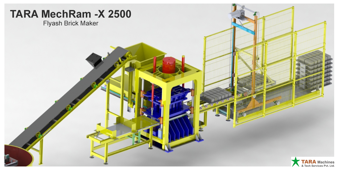 Fly Ash Technology, High Capacity , Brick Making Machine