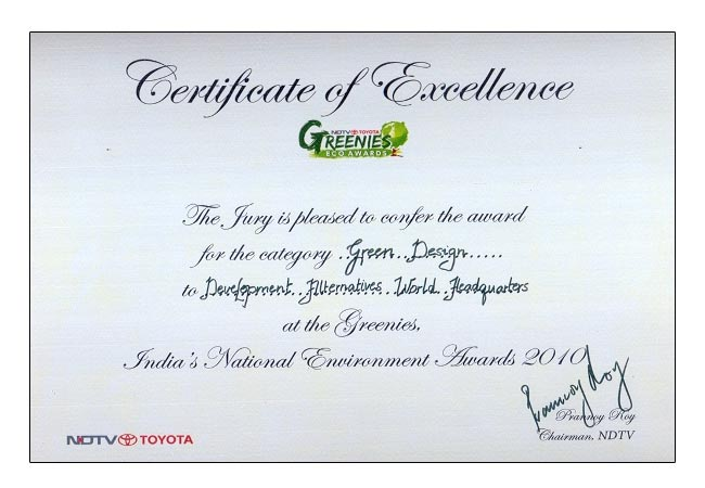 Certificate_NDTV Toyota Greenies Award 2010